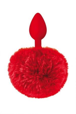 Plug κόκκινο με ουρά Sweet Caress
