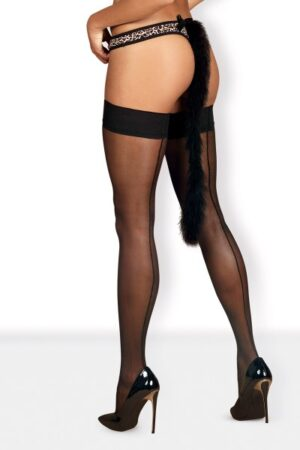 Μαύρο καλσόν Cheetia Obsessive