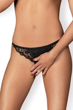 String noir Letica Crotchless Obsessive