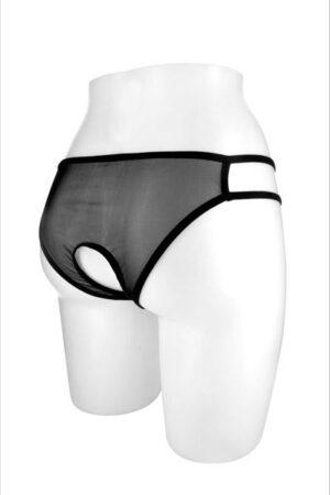 Culotte Ophelia μαύρο διάφανο