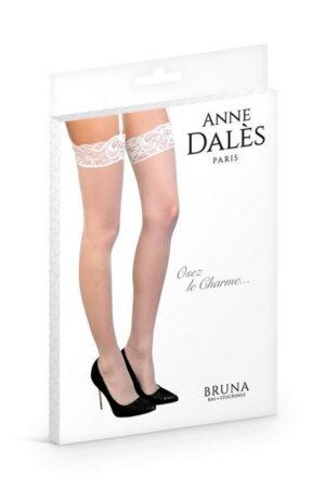 Anne D' Ales Bruna καλσόν λευκό με δαντέλα