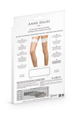 Anne D' Ales Erica καλσόν λευκό διχτυωτό