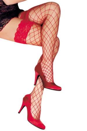 Anne D' Ales Erica διχτυωτό καλσόν κόκκινο