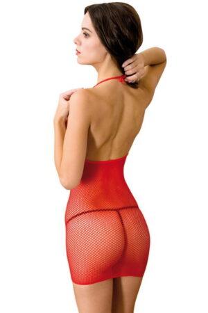Φόρεμα Anne D'Ales Dernier Tango διχτυωτό κόκκινο