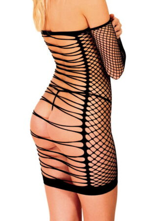 Φόρεμα Anne D'Ales Diable διχτυωτό μαύρο
