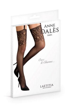 Anne D' Ales Laetitia καλσόν μαύρο με δαντέλα