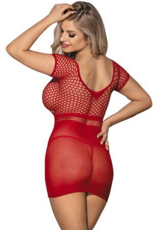 Φόρεμα διχτυωτό κόκκινο Paris Hollywood