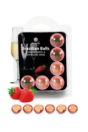 Brazilian Balls Set x2 Strawberry Champagne