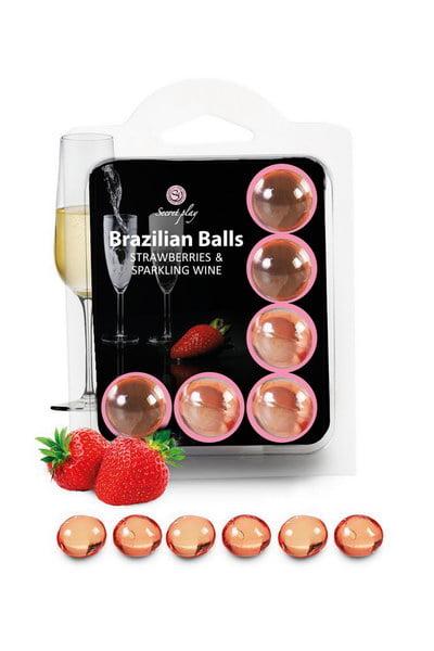 Brazilian Balls Set x2 Strawberry Champagne