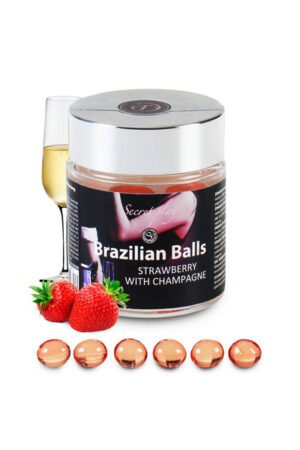 Brazilian Balls Set x6 Strawberry Champagne